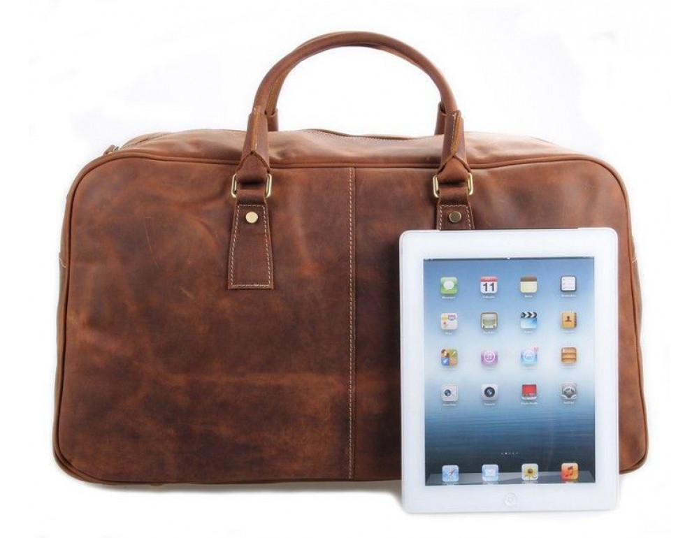 Большая винтажная сумка для путешествий Jasper Maine 7156LR - Фото № 3
