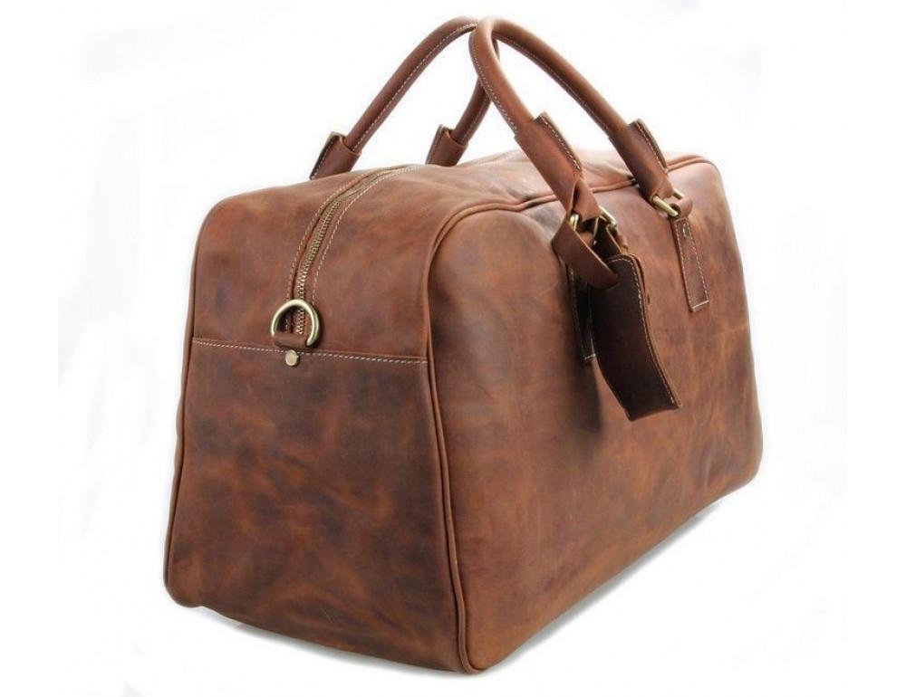 Большая винтажная сумка для путешествий Jasper Maine 7156LR - Фото № 4