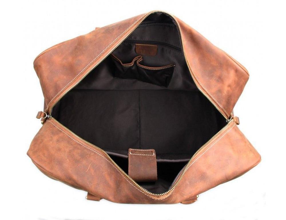 Большая винтажная сумка для путешествий Jasper Maine 7156LR - Фото № 6
