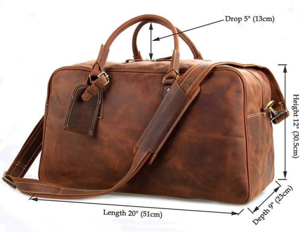 Большая винтажная сумка для путешествий Jasper Maine 7156LR - Фото № 7