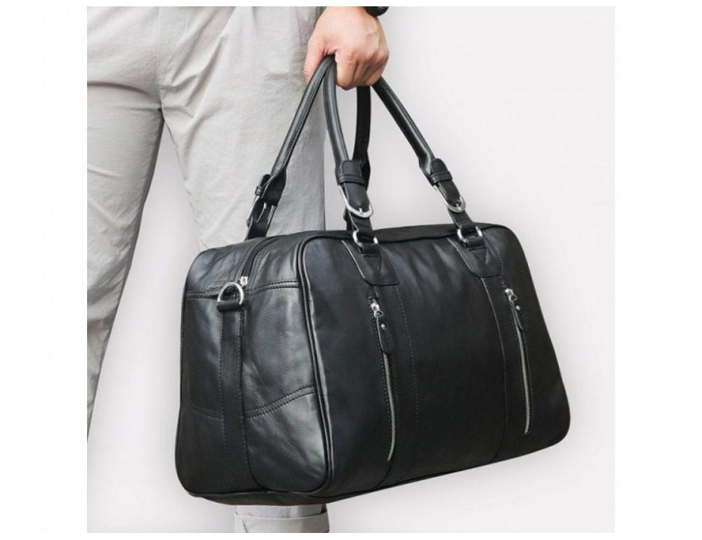 Кожаная дорожная сумка JASPER & MAINE 7190A - Фото № 2