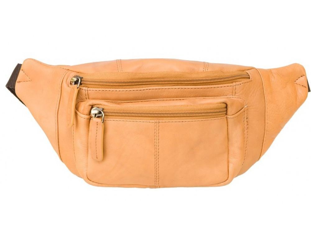 Светло-коричневая кожаная сумкм на пояс Visconti 720 SND Bumbag - Фото № 1