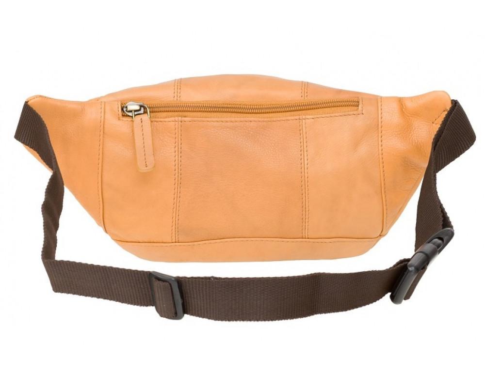 Светло-коричневая кожаная сумкм на пояс Visconti 720 SND Bumbag - Фото № 3