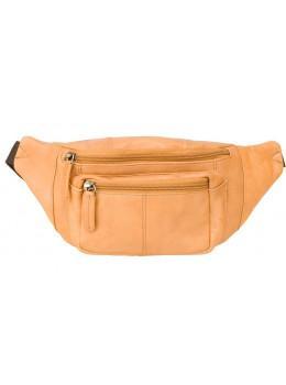 Светло-коричневая кожаная сумкм на пояс Visconti 720 SND Bumbag