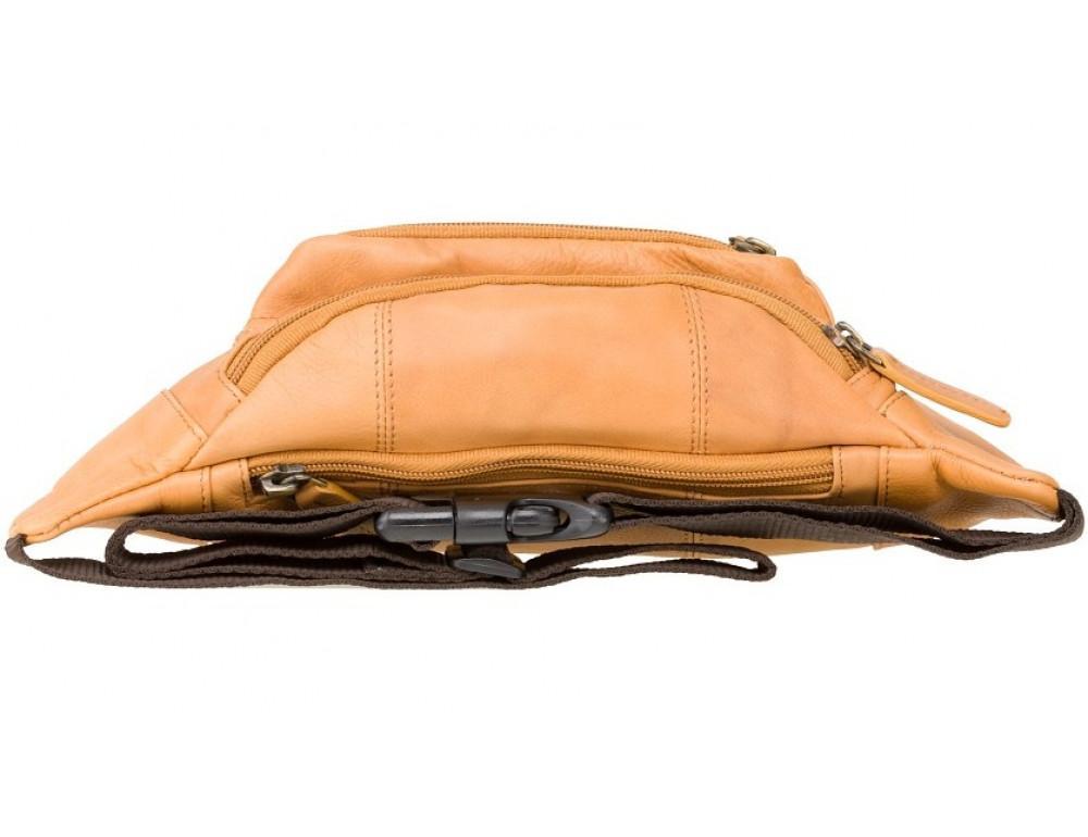 Светло-коричневая кожаная сумкм на пояс Visconti 720 SND Bumbag - Фото № 5