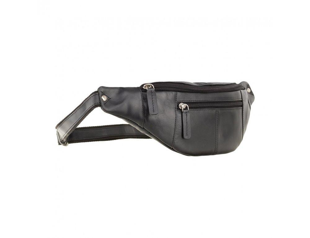 Чёрная напоясная сумка Visconti 721 BLK Bumbag Large (Black) - Фото № 1