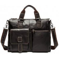 Коричнева шкіряна сумка для ноутбука 13 'Tiding Bag 7264C