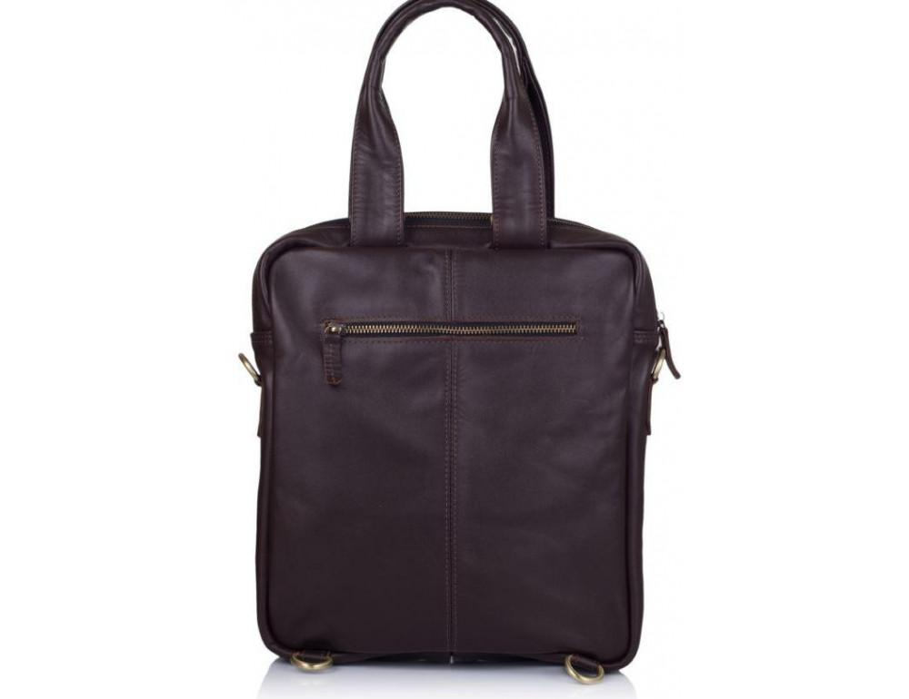 Коричневая кожаная сумка - трансформер TARWA GC-7266-1md - Фото № 2