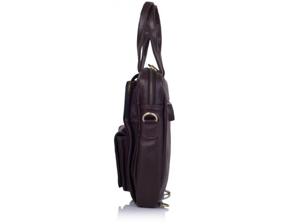 Коричневая кожаная сумка - трансформер TARWA GC-7266-1md - Фото № 3