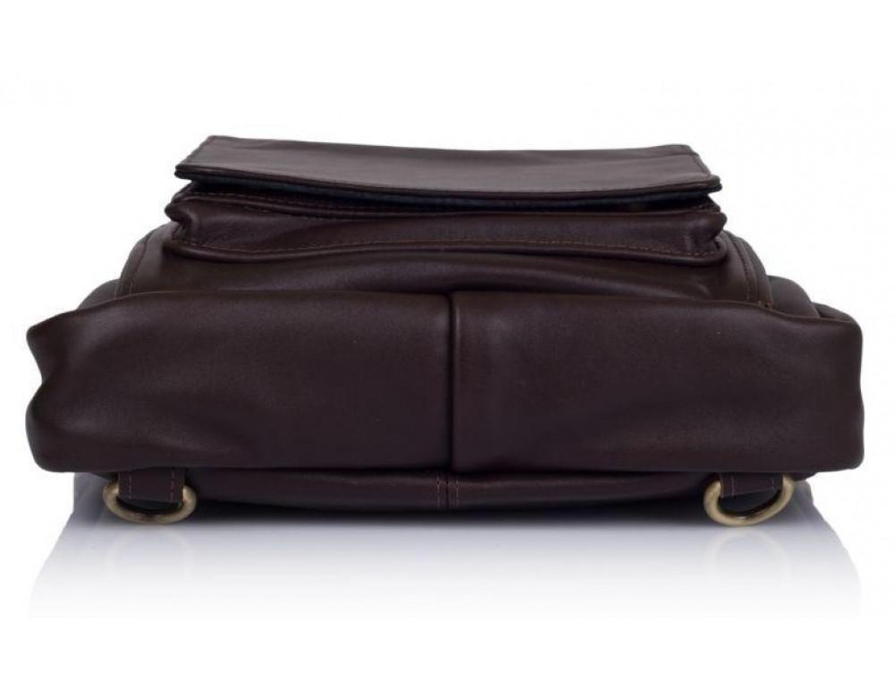 Коричневая кожаная сумка - трансформер TARWA GC-7266-1md - Фото № 4