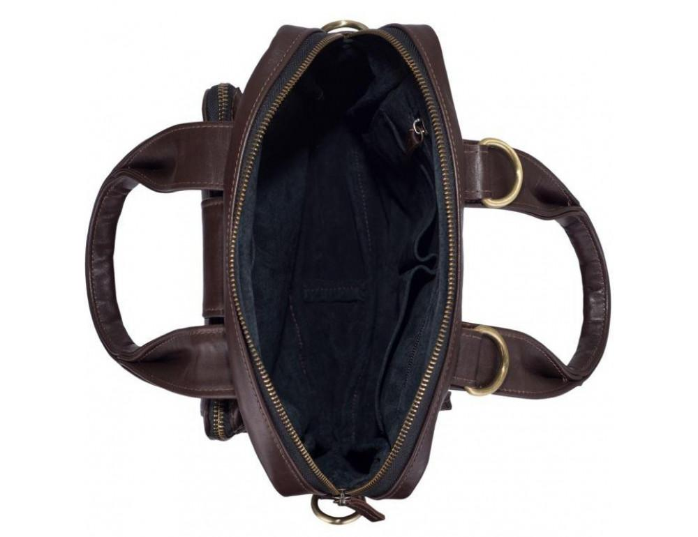 Коричневая кожаная сумка - трансформер TARWA GC-7266-1md - Фото № 5