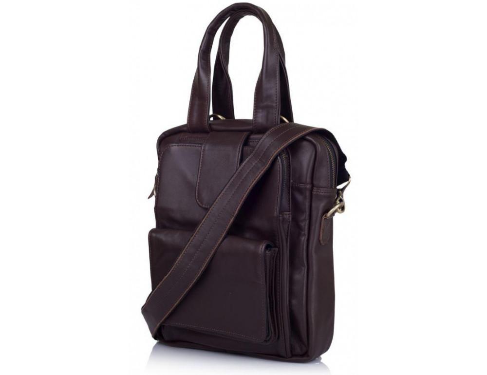 Коричневая кожаная сумка - трансформер TARWA GC-7266-1md - Фото № 1