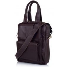 Коричнева шкіряна сумка - трансформер TARWA GC-7266-1md