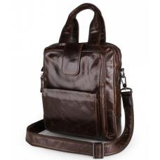 Мужской мессенджер TIDING BAG 7266C коричневая