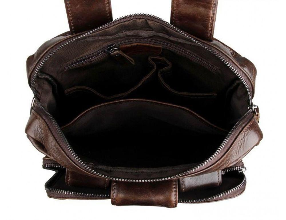 Мужской мессенджер TIDING BAG 7266C коричневая - Фото № 4