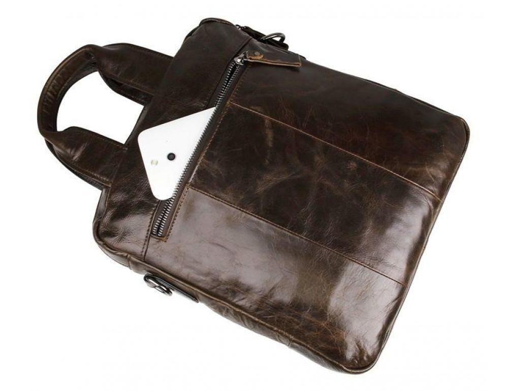 Мужской мессенджер TIDING BAG 7266C коричневая - Фото № 5