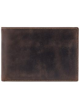 Темно-коричневий шкіряний портмоне для квитків Visconti 726 OIL BRN Jet