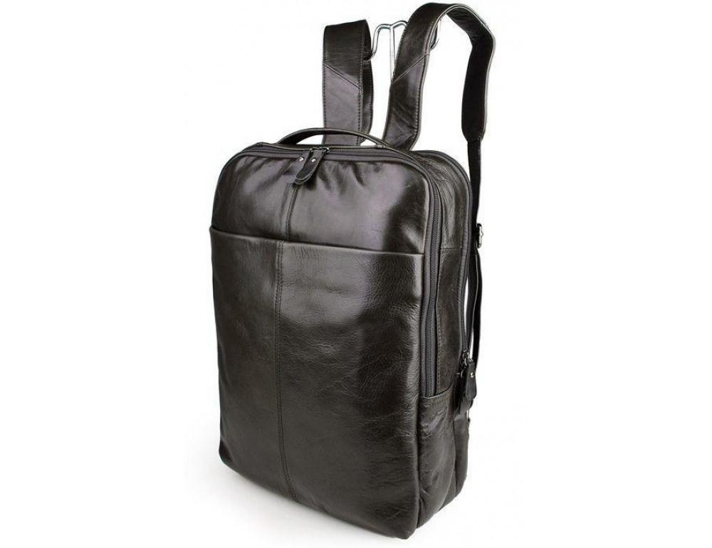 Серо-коричневый кожаный рюкзак John McDee  JD7280J  - Фото № 1