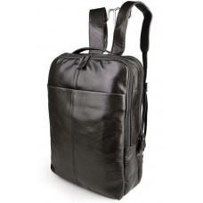 Серо-коричневый кожаный рюкзак John McDee  JD7280J
