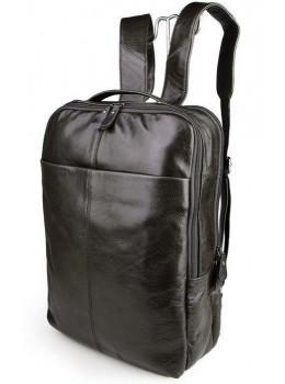 Сіро-коричневий шкіряний рюкзак John McDee JD7280J