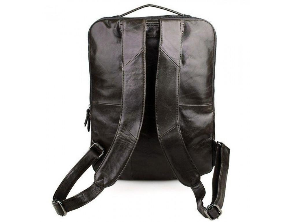 Серо-коричневый кожаный рюкзак John McDee  JD7280J  - Фото № 2
