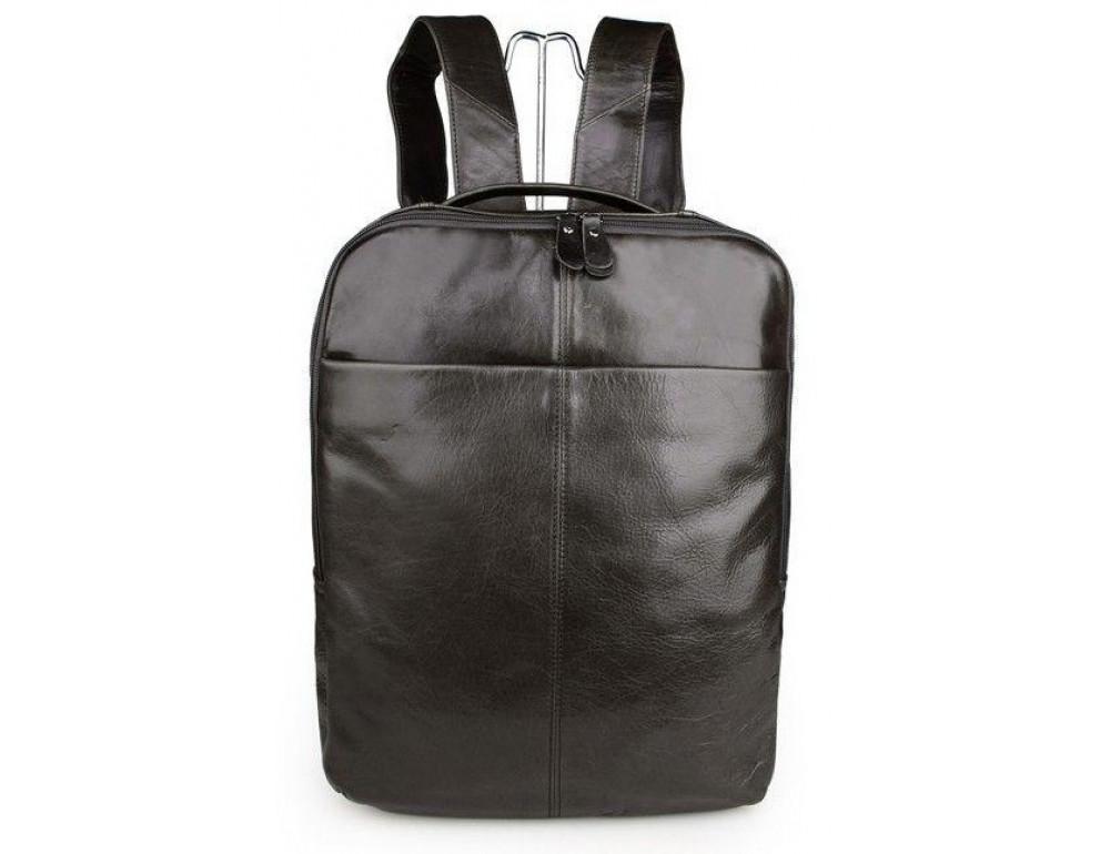 Серо-коричневый кожаный рюкзак John McDee  JD7280J  - Фото № 3