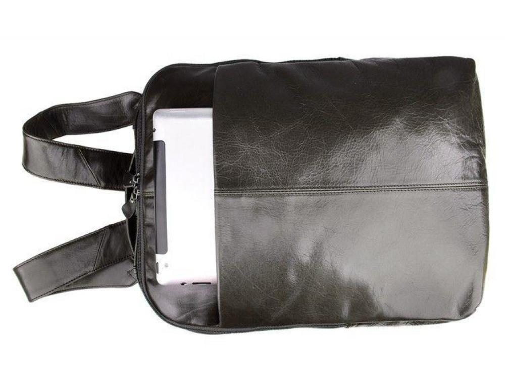 Серо-коричневый кожаный рюкзак John McDee  JD7280J  - Фото № 4