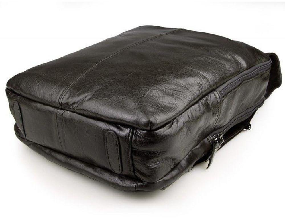 Серо-коричневый кожаный рюкзак John McDee  JD7280J  - Фото № 5