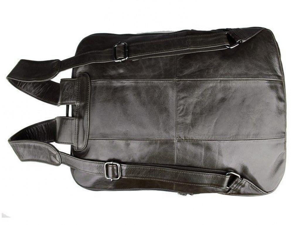 Серо-коричневый кожаный рюкзак John McDee  JD7280J  - Фото № 6