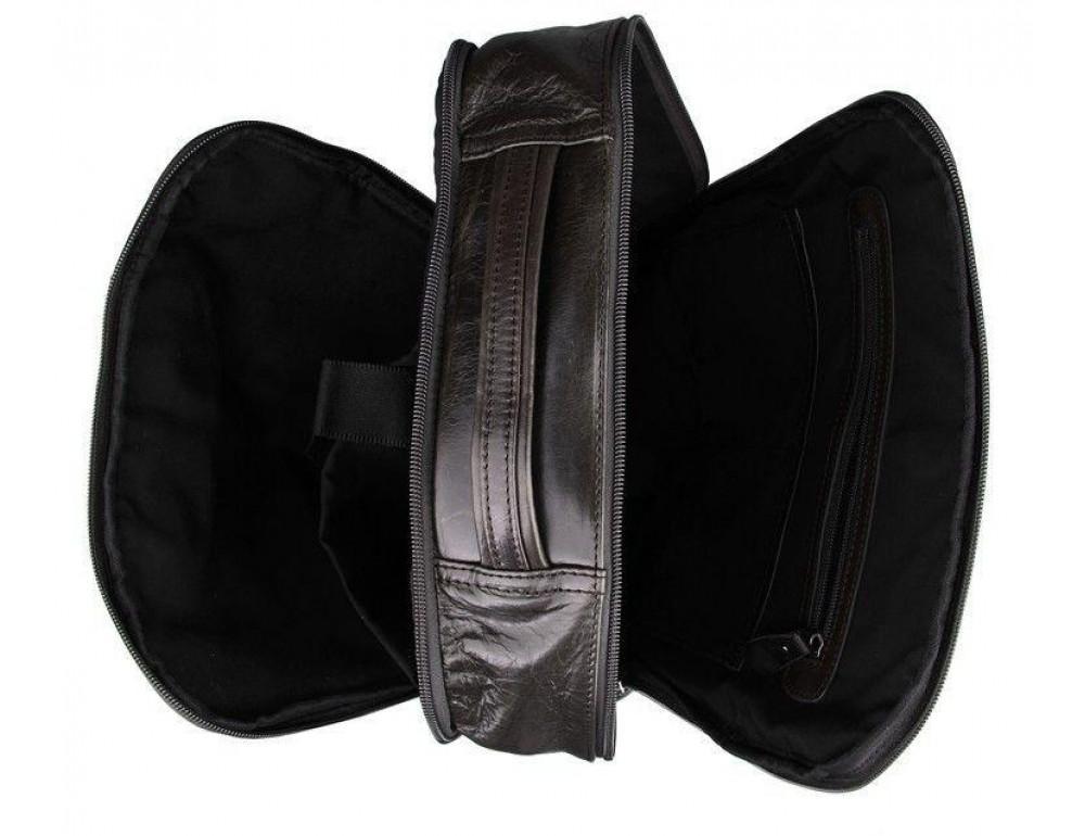 Серо-коричневый кожаный рюкзак John McDee  JD7280J  - Фото № 7