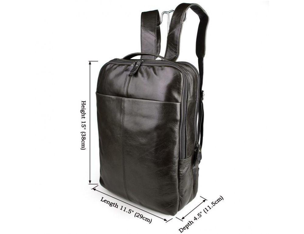 Серо-коричневый кожаный рюкзак John McDee  JD7280J  - Фото № 9