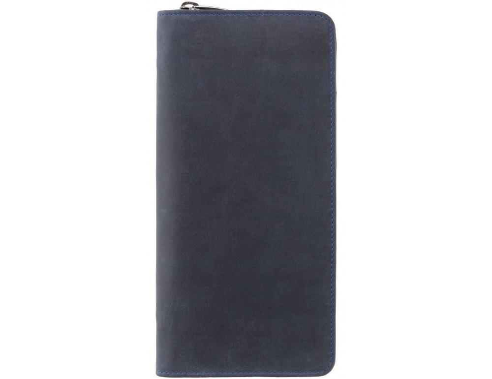 Синий кожаный клатч Visconti 728 OIL BLUE - Фото № 1