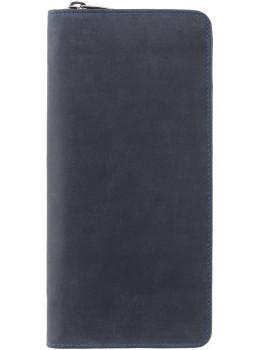 Синій шкіряний клатч Visconti 728 OIL BLUE