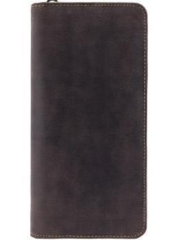 Тёмно-коричневый кожаный клатч Visconti 728 OIL BRN