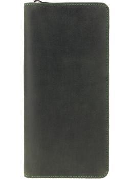 Зелений шкіряний клатч Visconti 728 OIL GRN