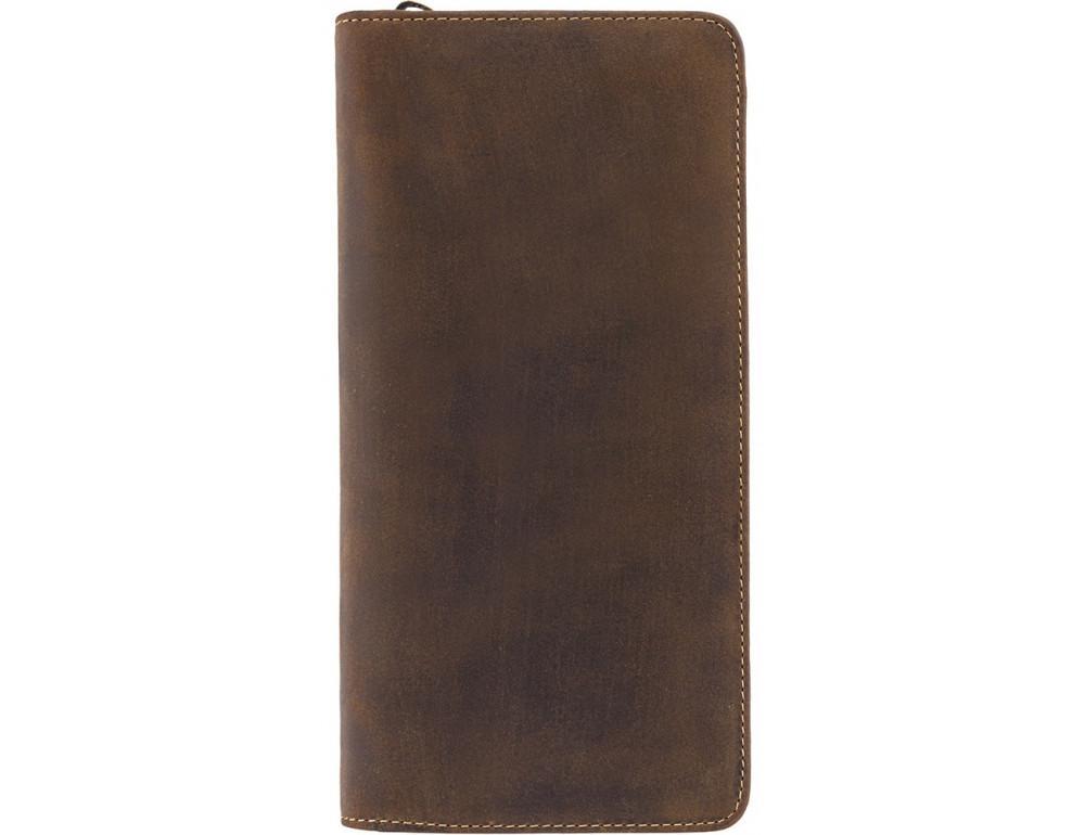 Коричневый кожаный клатч Visconti  728 OIL TAN