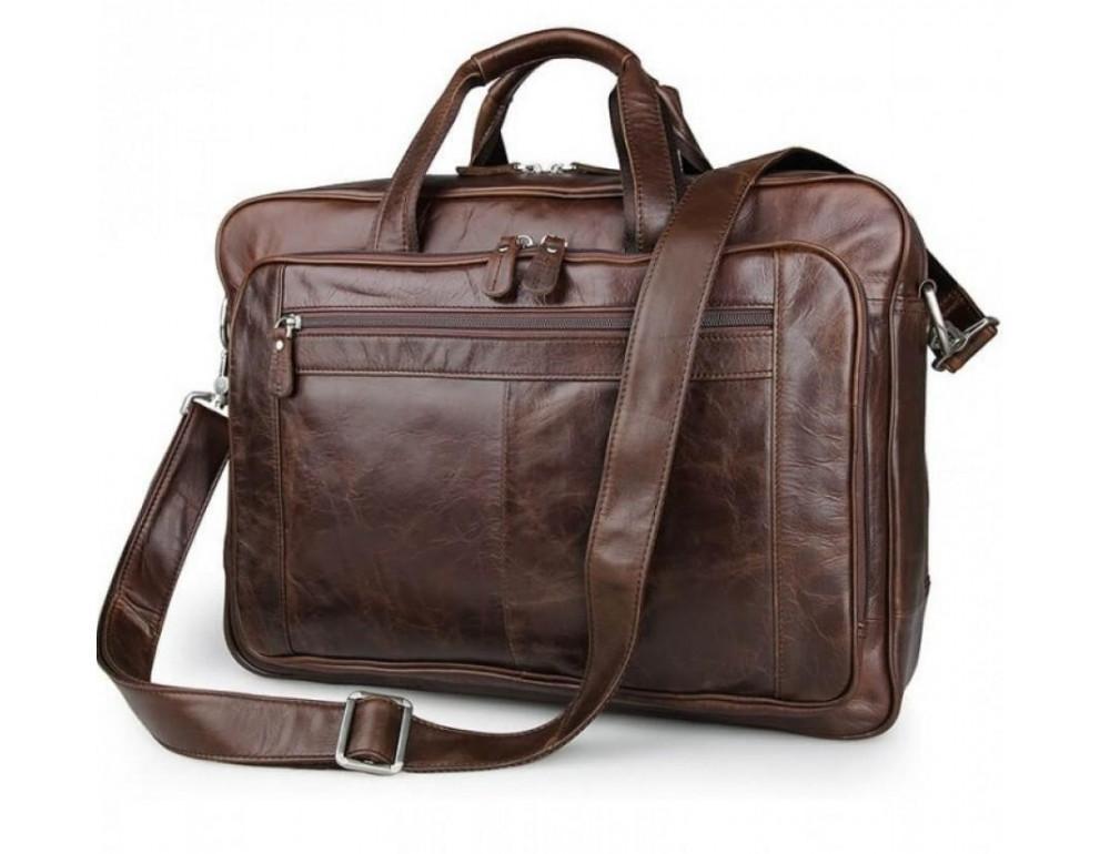 Чоловіча шкіряна сумка JASPER & MAINE 7320C коричнева