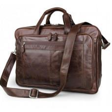 Мужская кожаная сумка JASPER&MAINE 7320C коричневая