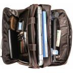 Кожаная сумка с двумя отделениями Tiding Bag 7367R коричневая - Фото № 101