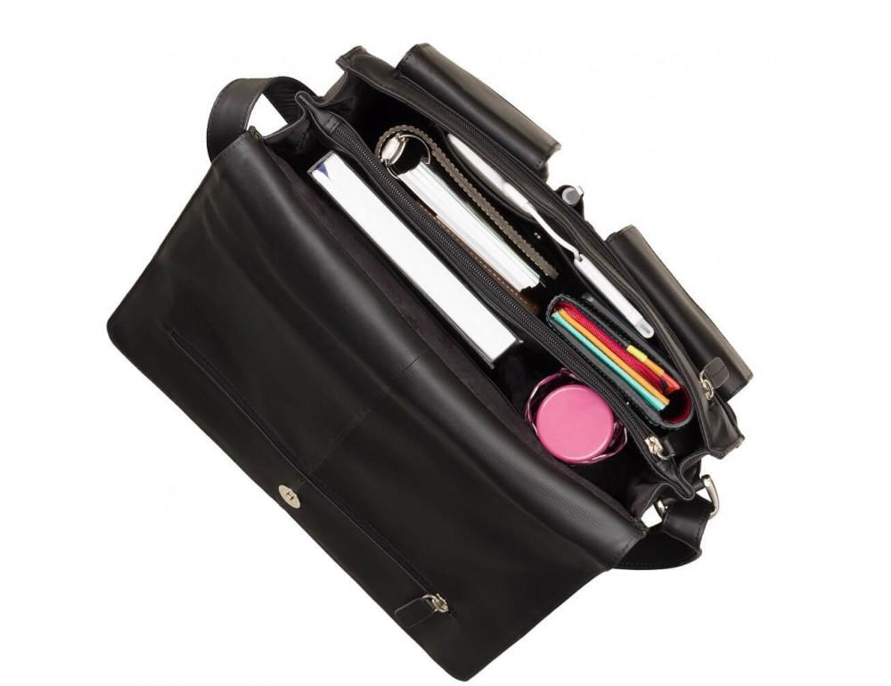 Чёрная кожаная сумка через плечо Visconti 753 BLK - Фото № 2