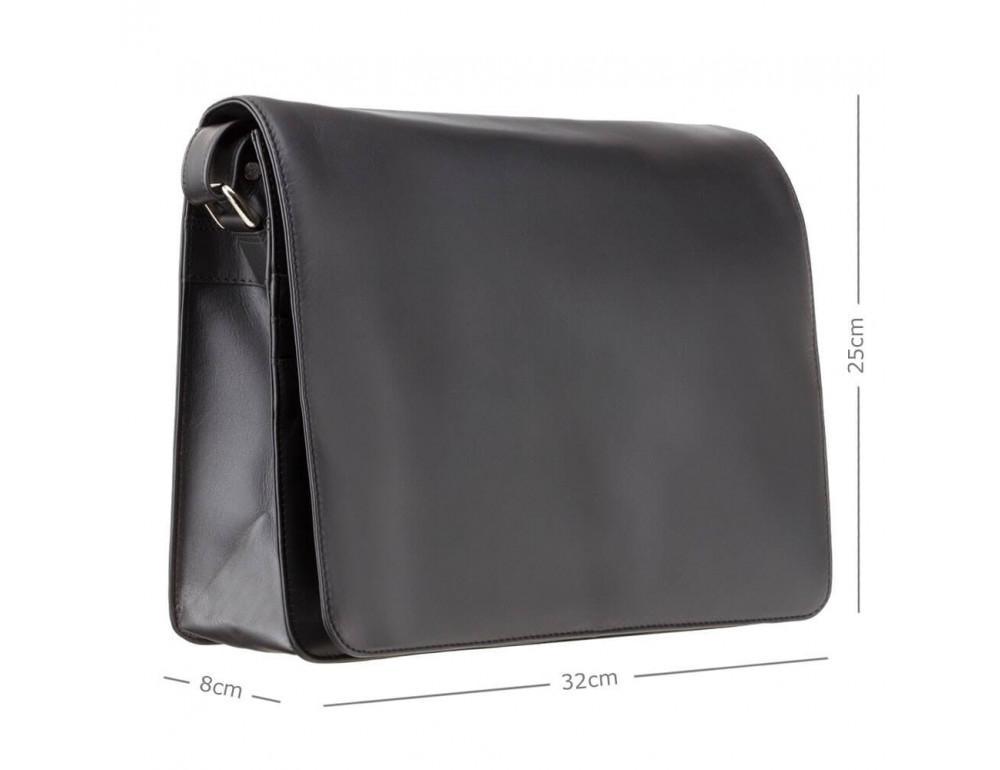 Чёрная кожаная сумка через плечо Visconti 753 BLK - Фото № 3
