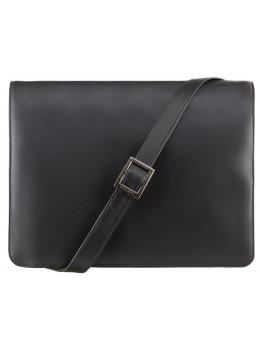 Чёрная кожаная сумка через плечо Visconti 753 BLK