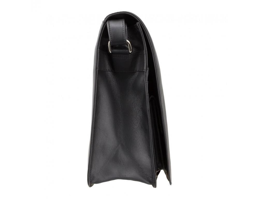 Чёрная кожаная сумка через плечо Visconti 753 BLK - Фото № 4