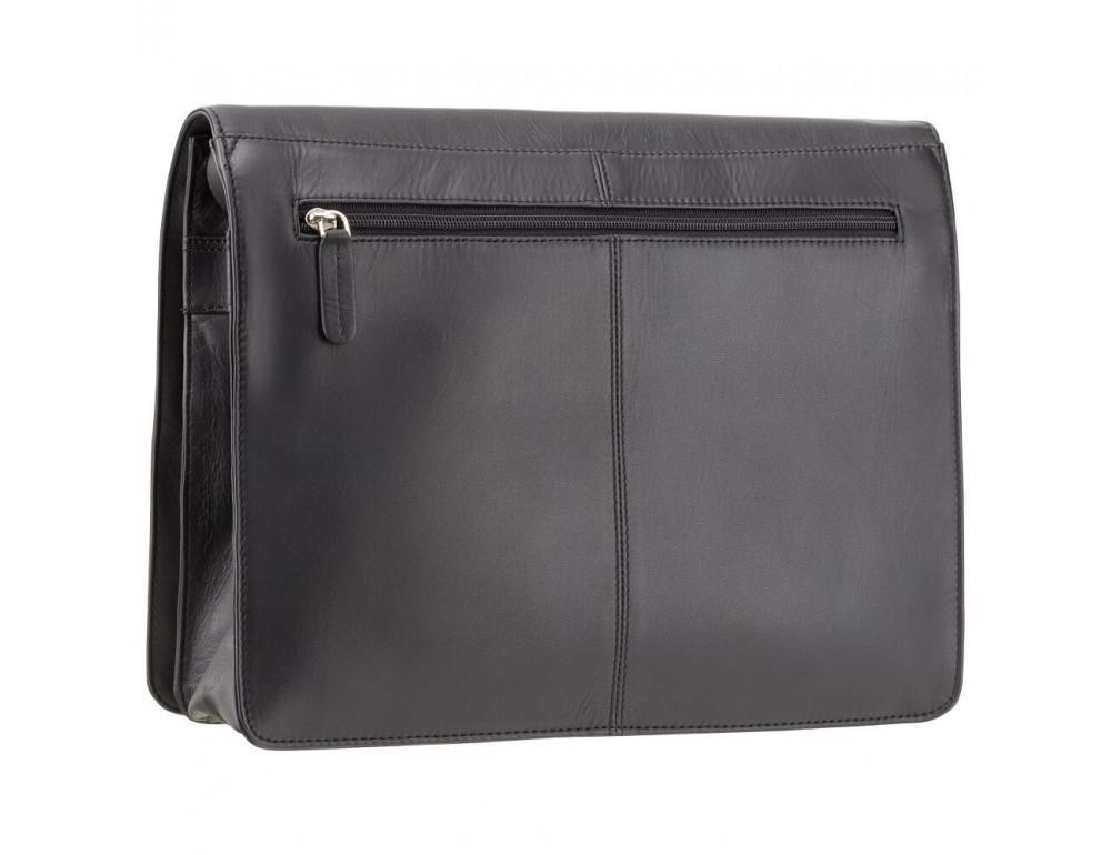 Чёрная кожаная сумка через плечо Visconti 753 BLK - Фото № 5