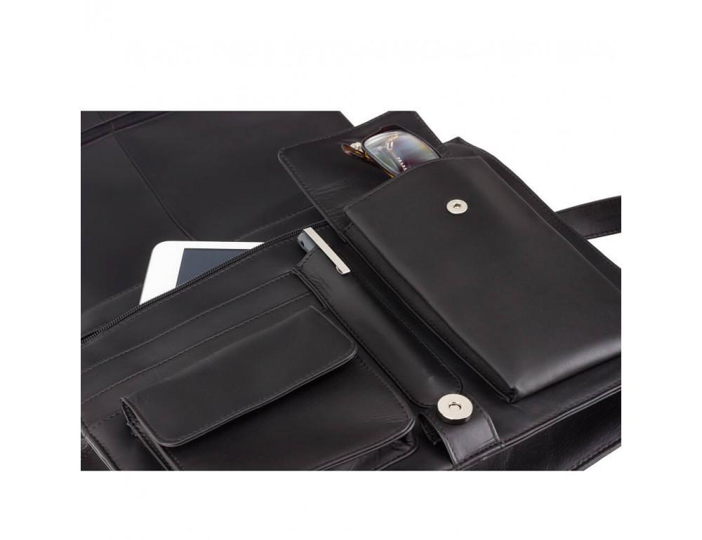 Чёрная кожаная сумка через плечо Visconti 753 BLK - Фото № 6