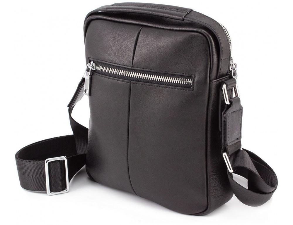 Чёрная брендовая сумка-барсетка Marco Coverna 7706-1A black - Фото № 2