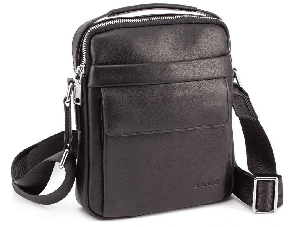 Чёрная брендовая сумка-барсетка Marco Coverna 7706-1A black - Фото № 1