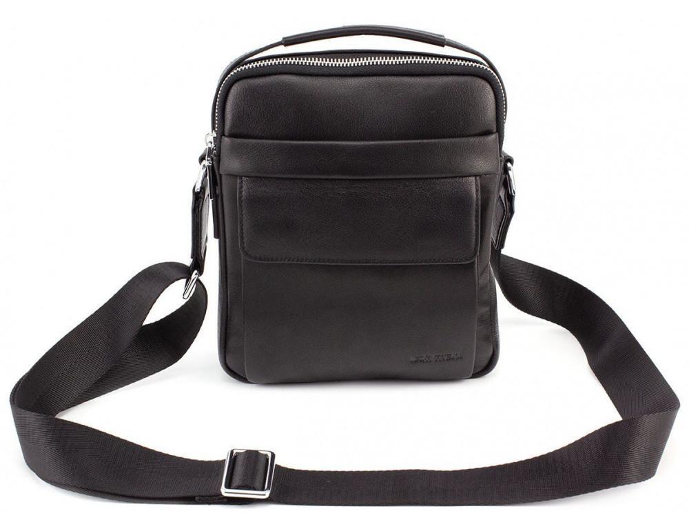 Чёрная брендовая сумка-барсетка Marco Coverna 7706-1A black - Фото № 3