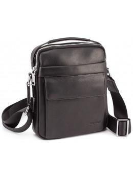 Чёрная брендовая сумка-барсетка Marco Coverna 7706-1A black