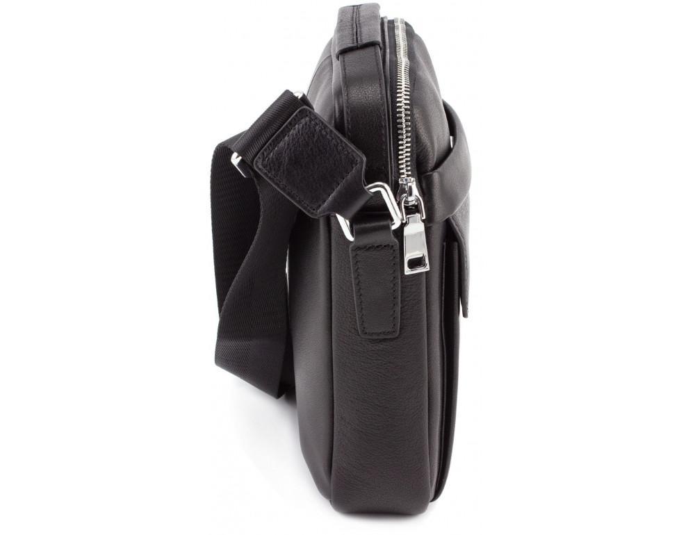 Чёрная брендовая сумка-барсетка Marco Coverna 7706-1A black - Фото № 4